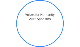 Voices for Humanity 2016 Sponsors