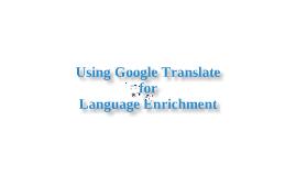 Google Translate with Newspapers