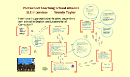 SLE interview presentation