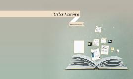 CTSS Lesson 6