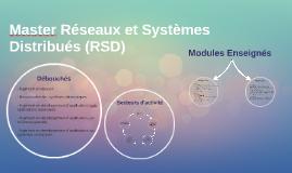 Master Réseaux et Systèmes Distribués (RSD)