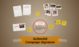 ActionAid's Campaign Signature