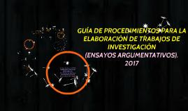 Guia para elaborar Ensayos 2017