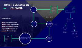 TRAMITE DE LEYES EN COLOMBIA