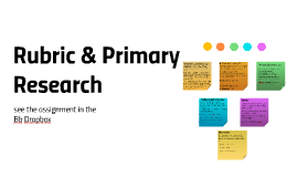 Rubric & Primary Resarch