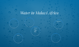 Water in Malawi Africa