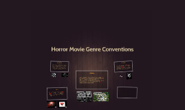Horror Movie Genre Conventions