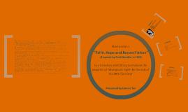 Faith, Hope and Reconciliation