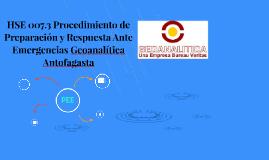 HSE 007.3 Procedimiento de Preparación y Respuesta Ante Emer