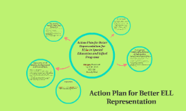 Action Plan for Better Representation for ELLs in Special Ed