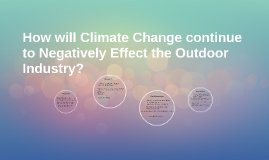 How will Climate Change continue to Negatively Effect the Ou