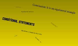 Copy of Conditional Statements