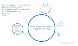 Breve introducción al método de las Diferencias Finitas