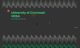 University of Cincinnati: HOSA