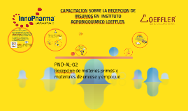 PROCESO DE RECEPCION DE INSUMOS