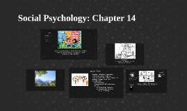Social Psychology: Chapter 14