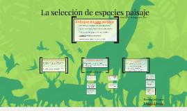 Selección de especies paisaje