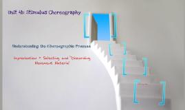 Understanding Choreographic Process
