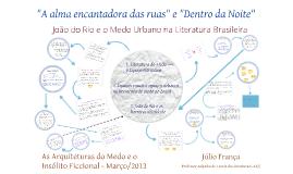 Medo Urbano na Literatura Brasileira