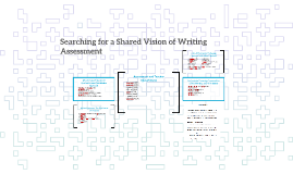 Searching for A Shared Vision of Writing Assessment