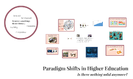 Paradigm Shifts in Higher Education