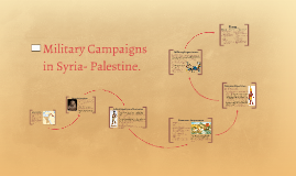 Military Campaigns in Syria- Palestine.