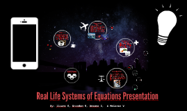 Real Life Systems of Equations Presentation