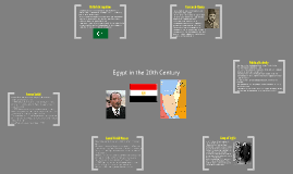 Egyptian History in the 20th Century