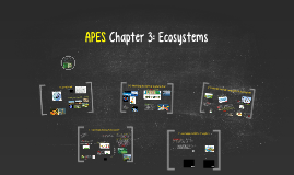 APES Ch 3: Ecosystems