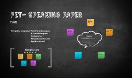 PET- SPEAKING PAPER