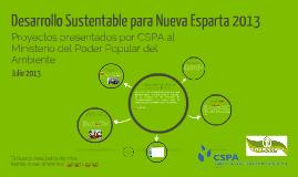 Desarrollo Sustentable para Nueva Esparta