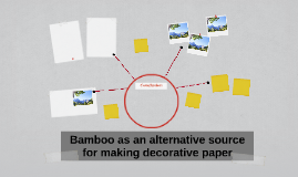 Bamboo as an alternative source for making decorative paper