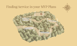 Finding Service in your MYP Plans