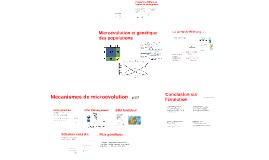 Microévolution et génétique des populations