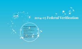 Emory 2014-15 Federal Verification