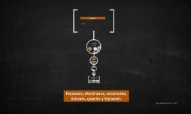 Copy of Protones, electrones, neutrones, fotones, quarks y leptones.