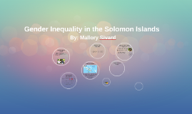 Gender Inequality in the Solomon Islands