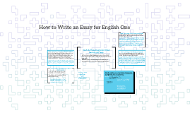 How to Write an Essay for English One