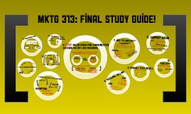 MKTG 313 FINAL EXAM STUDY GUIDE