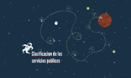 Copy of Clasificacion de los servicios publicos