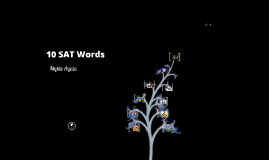 10 SAT Words Of Knowledge