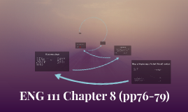 ENG 111 Chapter 8 (pp76-79)