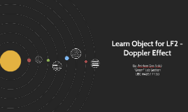 Learn Object for LF2 - Doppler Effect