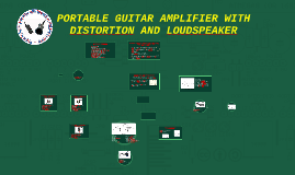 PORTABLE GUITAR AMPLIFIER WITH DISTORTION AND LOUDSPEAKER