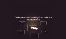 The Importance of Planning Video and the 16 Habits of Mind