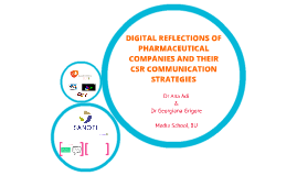 DIGITAL REFLECTIONS OF PHARMACEUTICAL COMPANIES AND THEIR CS