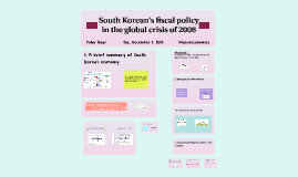 South Korean's fiscal policy in the global crisis of 2008