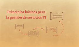 Principios básicos para la gestión de servicios TI