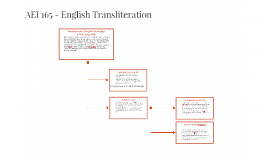 AEI 165 - English Transliteration