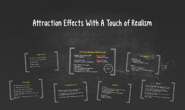 Attraction Effects With A Touch of Reality